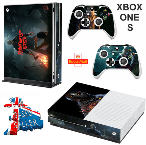 FRIDAY 13TH XBOX ONE S (SLIM) *TEXTURED VINYL ! * PROTECTIVE SKIN DECAL WRAP