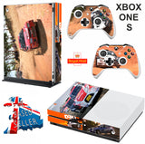 DIRT 4 XBOX ONE S (SLIM) *TEXTURED VINYL ! * PROTECTIVE SKIN DECAL WRAP