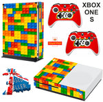 LEGO XBOX ONE S (SLIM) *TEXTURED VINYL ! * PROTECTIVE SKIN DECAL WRAP