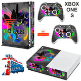 ADIDAS COMBI XBOX ONE S (SLIM) *TEXTURED VINYL ! * PROTECTIVE SKIN DECAL WRAP