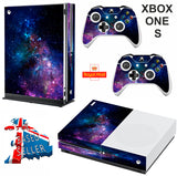 NEBULA GALAXY XBOX ONE S (SLIM) *TEXTURED VINYL ! * PROTECTIVE SKIN DECAL WRAP