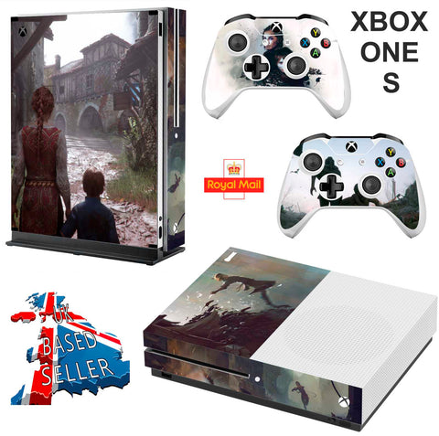 A PLAGUE TAIL OF INNOCENCE XBOX ONE S (SLIM) *TEXTURED VINYL ! * PROTECTIVE SKIN DECAL WRAP
