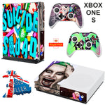 SUICIDE SQUAD XBOX ONE S (SLIM) *TEXTURED VINYL ! * PROTECTIVE SKIN DECAL WRAP