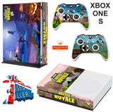 FORTNITE BATTLE ROYALE XBOX ONE S (SLIM) *TEXTURED VINYL ! * PROTECTIVE SKIN DECAL WRAP
