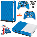 BLUE CARBON EFFECT XBOX ONE S (SLIM) *TEXTURED VINYL ! * PROTECTIVE SKIN DECAL WRAP