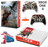 APEX LEGENDS XBOX ONE S (SLIM) *TEXTURED VINYL ! * PROTECTIVE SKIN DECAL WRAP