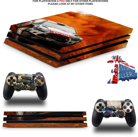 WRC 8 PS4 PRO SKINS DECALS (PS4 PRO VERSION) TEXTURED VINYL