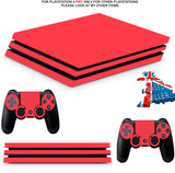 RED CARBON EFFECT PS4 PRO SKINS DECALS (PS4 PRO VERSION) TEXTURED VINYL