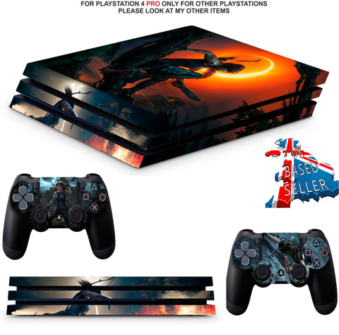 SHADOW OF THE TOMB RAIDER PS4 PRO SKINS DECALS (PS4 PRO VERSION) TEXTURED VINYL