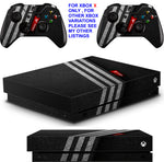 ADIDAS TEXTURE XBOX ONE X *TEXTURED VINYL ! * PROTECTIVE SKINS DECALS STICKERS