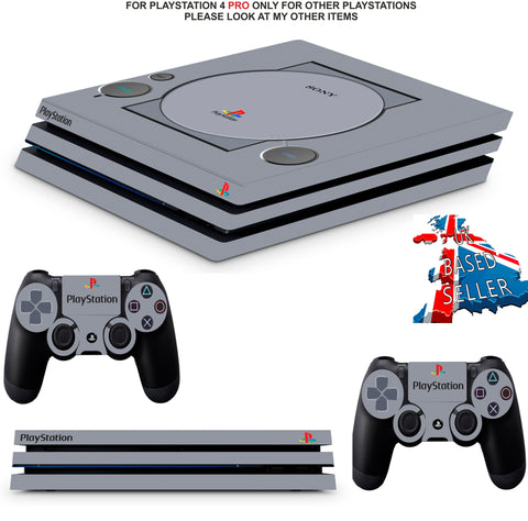PS1 STYLE PS4 PRO SKINS DECALS (PS4 PRO VERSION) TEXTURED VINYL