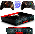 WOLFENSTEIN XBOX ONE X *TEXTURED VINYL ! * PROTECTIVE SKINS DECALS STICKERS