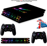 NIKE TICK BRIGHT PS4 PRO SKINS DECALS (PS4 PRO VERSION) TEXTURED VINYL