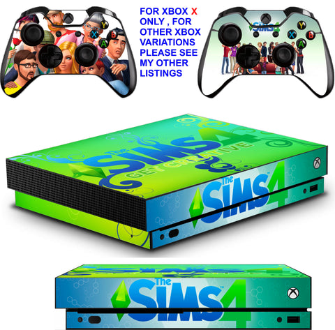 SIMS 4 XBOX ONE X *TEXTURED VINYL ! * PROTECTIVE SKINS DECALS STICKERS
