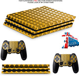 GOLD CIRCLES PS4 PRO SKINS DECALS (PS4 PRO VERSION) TEXTURED VINYL