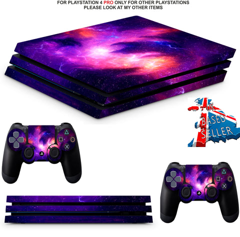 NEBULA GALAXY PS4 PRO SKINS DECALS (PS4 PRO VERSION) TEXTURED VINYL
