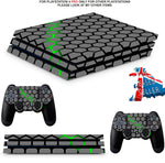 GREEN HEX PS4 PRO SKINS DECALS (PS4 PRO VERSION) TEXTURED VINYL