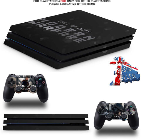 CALL OF DUTY MODERN WARFARE PS4 PRO SKINS DECALS (PS4 PRO VERSION) TEXTURED VINYL