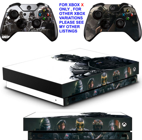 RAINBOW SIX SIEGE XBOX ONE X *TEXTURED VINYL ! * PROTECTIVE SKINS DECALS STICKERS