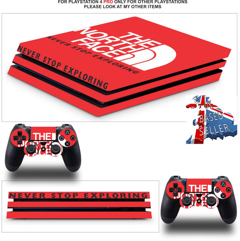 NORTH FACE PS4 PRO SKINS DECALS (PS4 PRO VERSION) TEXTURED VINYL