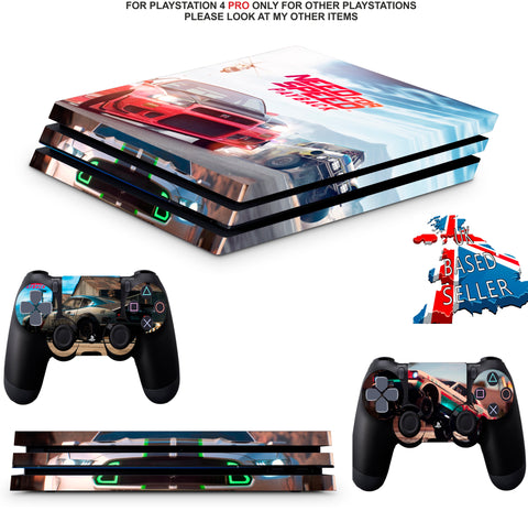 NEED FOR SPEED PS4 PRO SKINS DECALS (PS4 PRO VERSION) TEXTURED VINYL