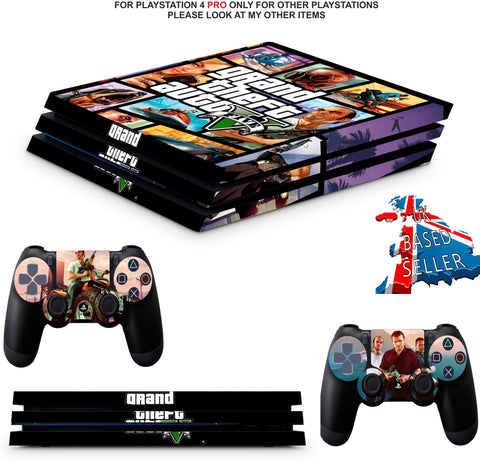 GTA 5 PS4 PRO SKINS DECALS (PS4 PRO VERSION) TEXTURED VINYL
