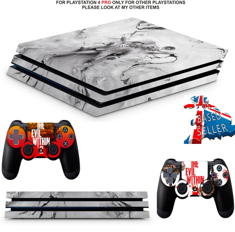 THE EVIL WITHIN 2 PS4 PRO SKINS DECALS (PS4 PRO VERSION) TEXTURED VINYL