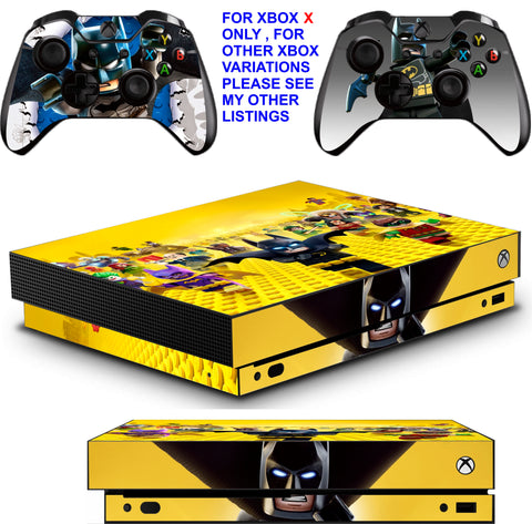 LEGO BATMAN XBOX ONE X *TEXTURED VINYL ! * PROTECTIVE SKINS DECALS STICKERS