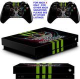 ADIDAS GREEN XBOX ONE X *TEXTURED VINYL ! * PROTECTIVE SKINS DECALS STICKERS