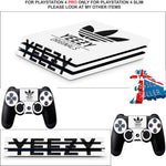 ADIDAS YEEZY PS4 PRO SKINS DECALS (PS4 PRO VERSION) TEXTURED VINYL