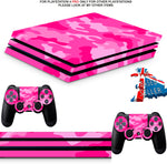PINK CAMO PS4 PRO SKINS DECALS (PS4 PRO VERSION) TEXTURED VINYL