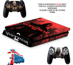 GOD OF WAR PS4 SLIM *TEXTURED VINYL ! *PROTECTIVE SKINS DECALS WRAP
