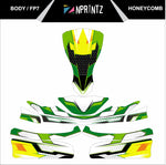 FP7 HONEYCOMB FULL KART STICKER KIT