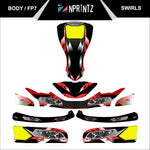 FP7 SWIRLS FULL KART STICKER KIT