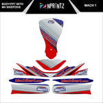 FP7 MACH 1 V2 WITH M4 SIDES FULL KART STICKER KIT