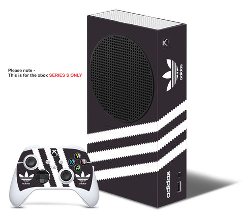 ADIDAS BLACK & WHITE Xbox SERIES S *TEXTURED VINYL ! * SKINS DECALS STICKERS