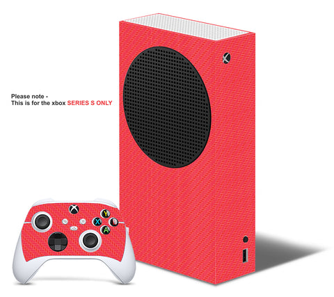 RED CARBON Xbox SERIES S *TEXTURED VINYL ! * SKINS DECALS STICKERS