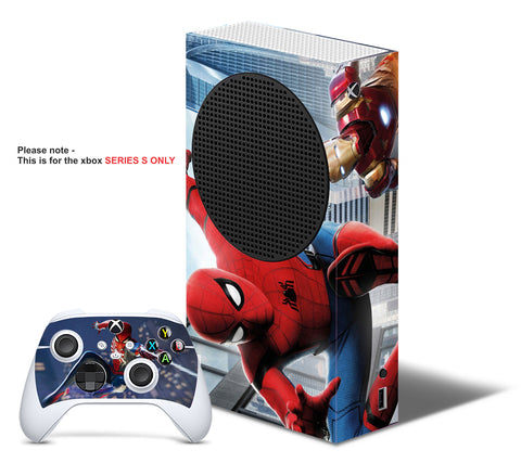 SPIDERMAN V2 Xbox SERIES S *TEXTURED VINYL ! * SKINS DECALS STICKERS