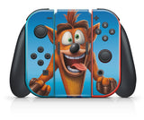 CRASH BANDICOOT N-SANE TRILOGY NINTENDO SWITCH **TEXTURED VINYL ! *  SKINS DECALS WRAP