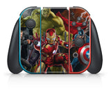 MARVEL AVENGERS NINTENDO SWITCH **TEXTURED VINYL ! *  SKINS DECALS WRAP