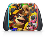 SUPER MARIO PARTY NINTENDO SWITCH **TEXTURED VINYL ! *  SKINS DECALS WRAP