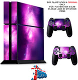 NEBULA GALAXY PS4 *TEXTURED VINYL ! * PROTECTIVE SKINS DECAL WRAP STICKERS