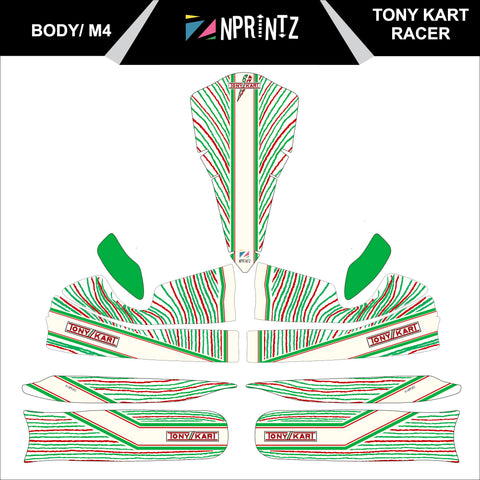 M4 RACER 2015 FULL KART STICKER KIT