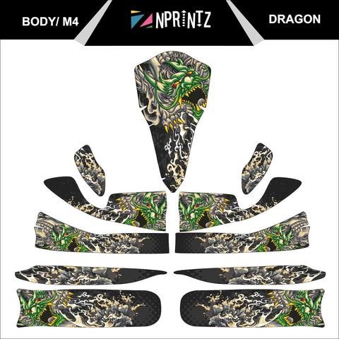 M4 DRAGON FULL KART STICKER KIT