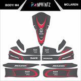 M4 MCLAREN FULL KART STICKER KIT
