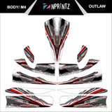 M4 OUTLAW FULL KART STICKER KIT