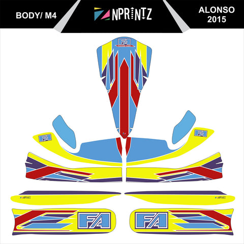 M4 ALONSO 2015 FULL KART STICKER KIT