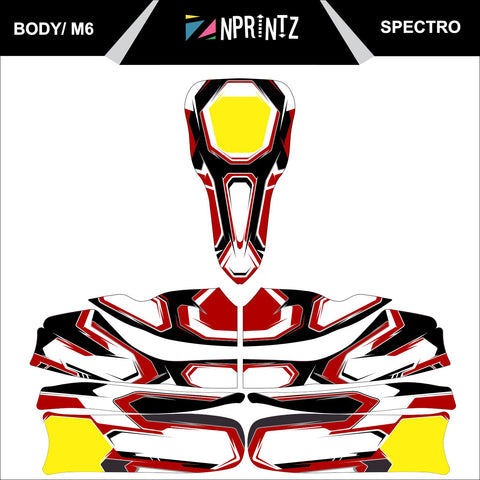 M6 SPECTRO FULL KART STICKER KIT