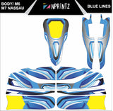M6 BLUE LINES FULL KART STICKER KIT