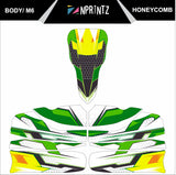 M6 HONEYCOMBE STYLE FULL KART STICKER KIT
